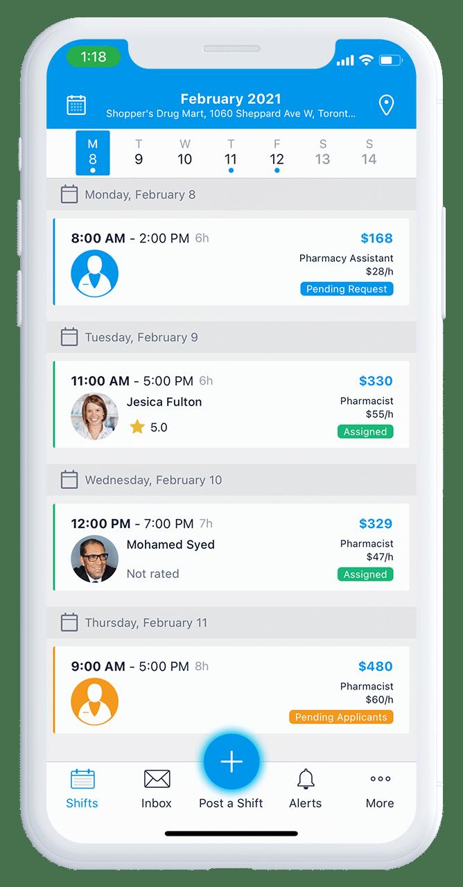 ShiftPosts Mobile App